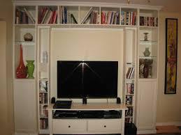 Billy Bookcase Hack Built In Built In Bookcase And Home Theater Unit Ikea Hackers Ikea Hackers