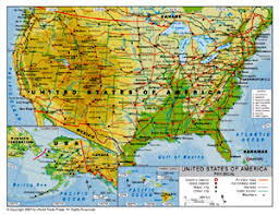 physical map of the united states physical map of united states by bestcountryreports