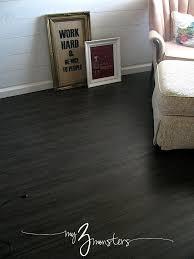 Black Vinyl Plank Flooring 31 Days To A Brand New Room Day 6 Vinyl Plank Flooring Plank