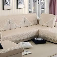 nettoyage housse canapé simple beige housse de canapé dentelle bord non slip solide
