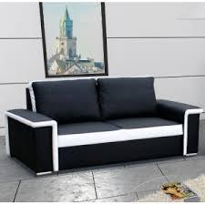 canapé simili cuir blanc pas cher canapé 3 places noir et blanc bilbao design et pas cher canapé