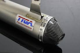 silencer race shorty stainless steel with carbon end cap yz250