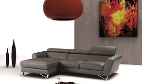 Leather Sectional Sofa Chaise by Sparta Mini Italian Leather Sectional Sofa In Grey Free Shipping