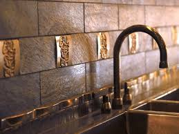 Copper Tiles - Copper tile backsplash