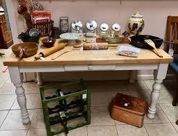 Antique Farm Tables Butcher Block Farm Table For Sale Pastimes Decor Antiques