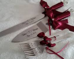wedding cake knives and servers personalised wedding cake servers knives etsy hk