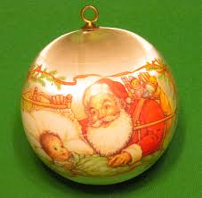 1980 hallmark satin ornament