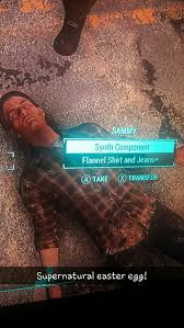 fallout 4 sam winchester easter egg supernatural for the win