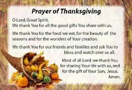 holy thanksgiving prayer service catholic exles in the bible