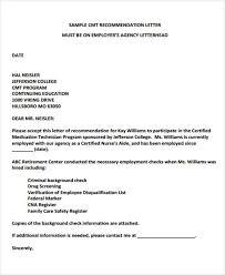 nursing recommendation letter sample sample cover letter for