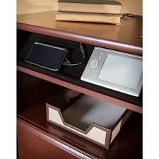 Realspace Magellan Corner Desk And Hutch Bundle Bush Furniture Cabot Corner Desk Walmart Com