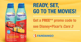 cheap coppertone sport sunscreen free disney cars 3 movie ticket