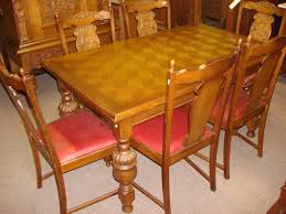 Antique Dining Room Table by Beautiful Hand Carved Antique Flemish Burgle 7 Piece Dining Set