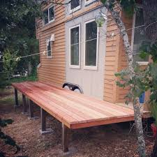 Backyard Tiny House Tiny Houses Are Better With Folding Redwood Decks
