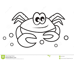 crab coloring book stock vector image 40015842