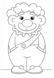 cute clown coloring page image education images of clown
