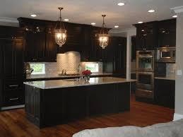 dark cabinets light floors modern pendant cooker hood white drop