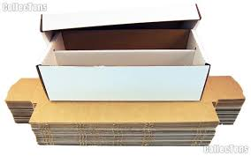 10 trading cards storage boxes by bcw 1600 count shoe cardboard