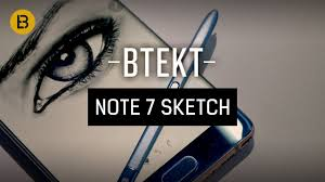 samsung galaxy note 7 speed sketching youtube