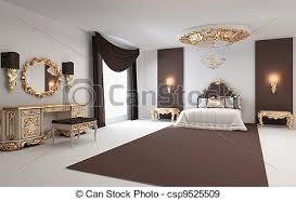 chambre a coucher baroque doré résidence royal chambre à coucher intérieur