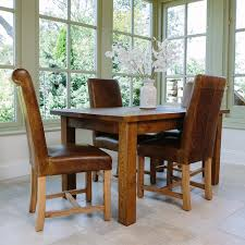 rustic leather dining room chairs quercus dining table in rustic