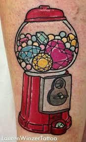 Machine Tattoo Ideas Gumball Machine Tattoo Lauren Winzer Ink Love Pinterest