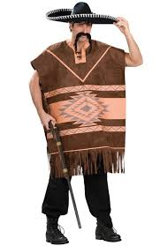 brown costume brown mexican poncho men s costume