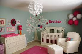 Baby Girl Nursery With Floral Wall Shop Rent Consign - Baby girl bedroom ideas decorating