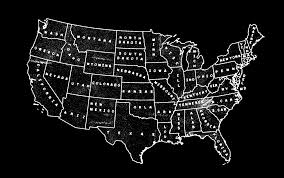 Map Of Continental United States by The 50 States Americana Pinterest Cartography Typography