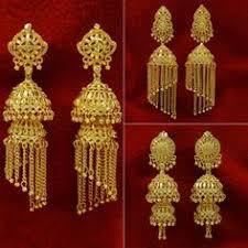 gold jhumka earrings design 22k gold jhumkas 22k gold fancy jhumka earring for meenajewelers