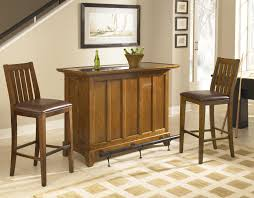 home styles arts and crafts mission style bar with storage and