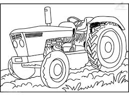 coloringpages vehicle traktor tractor coloring page 753147