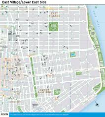 Nyc City Map New York City Map East Village And The Lower East Side