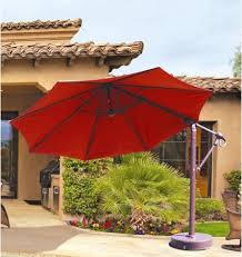 Cantilever Patio Umbrella With Base 11 Foot Octagon Cantilever Patio Umbrella Width Base