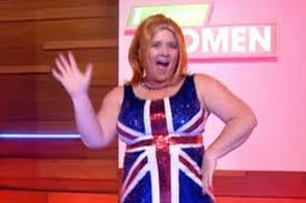 Ginger Spice Halloween Costume Coleen Nolan Transforms Ginger Spice Famous Union Flag