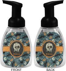 vintage grunge halloween foam soap dispenser personalized