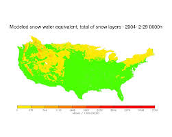 United States Snow Cover Map by National Snow And Ice Data Center