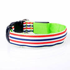 collar light for small dogs led night safety pets striped nylon collar super cool light up dogs