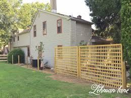 diy square lattice fence for privacy lehman lane