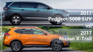 peugeot mpv 2017 2017 peugeot 5008 suv vs 2017 nissan x trail technical comparison