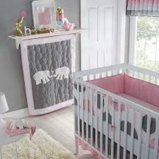 Gray Baby Crib Bedding Pink And Gray Crib Bedding Sets Baby Elephant Set Stock