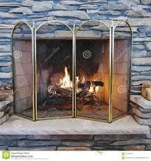 indoor wood burning stone fireplace stock photo image 65149218 burning fire fireplace indoor