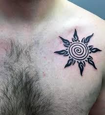 sun cool tribal sun tattoos ink idea for