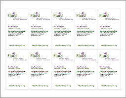 Print Business Cards Word Fluid Identity System 2011 Fluid Fluid Project Wiki