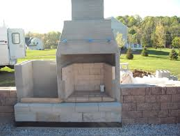 building an outdoor fireplace with cinder block home design ideas