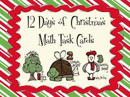 24 free christmas task cards 3rd grade pinterest cards math