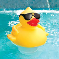 solar led light up rubber duck 3 inch tabs swimming pool
