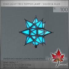 second life marketplace trompe loeil star tree topper silver