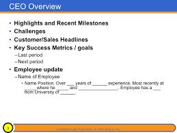 presentation to board of director template 13 board report