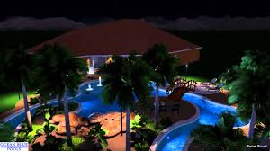 Backyard Pool With Lazy River by Ocean Blue Pools Lazy River Paradise Youtube